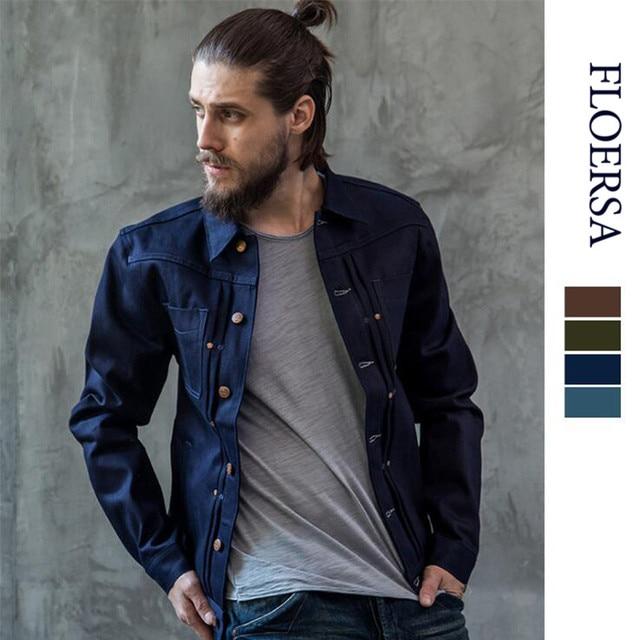 Oldsaints Jeans Jacket Men Cotton Denim Jackets For Men Outerwear