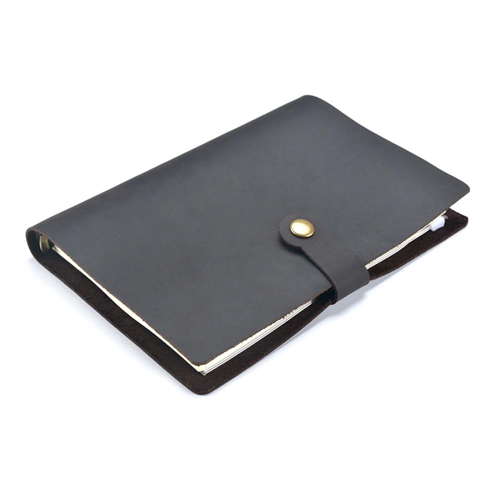Cadernos caderno de couro a5 notebook Estilo : Couro Genuíno