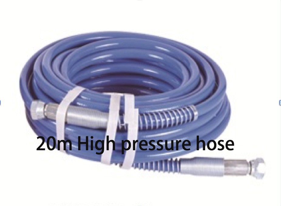 Aftermarket Gmax airless paint sprayer hose 20m 1/4 npsm High pressure hose painting machine electric airless paint sprayer piston painting machine 395 repair kit