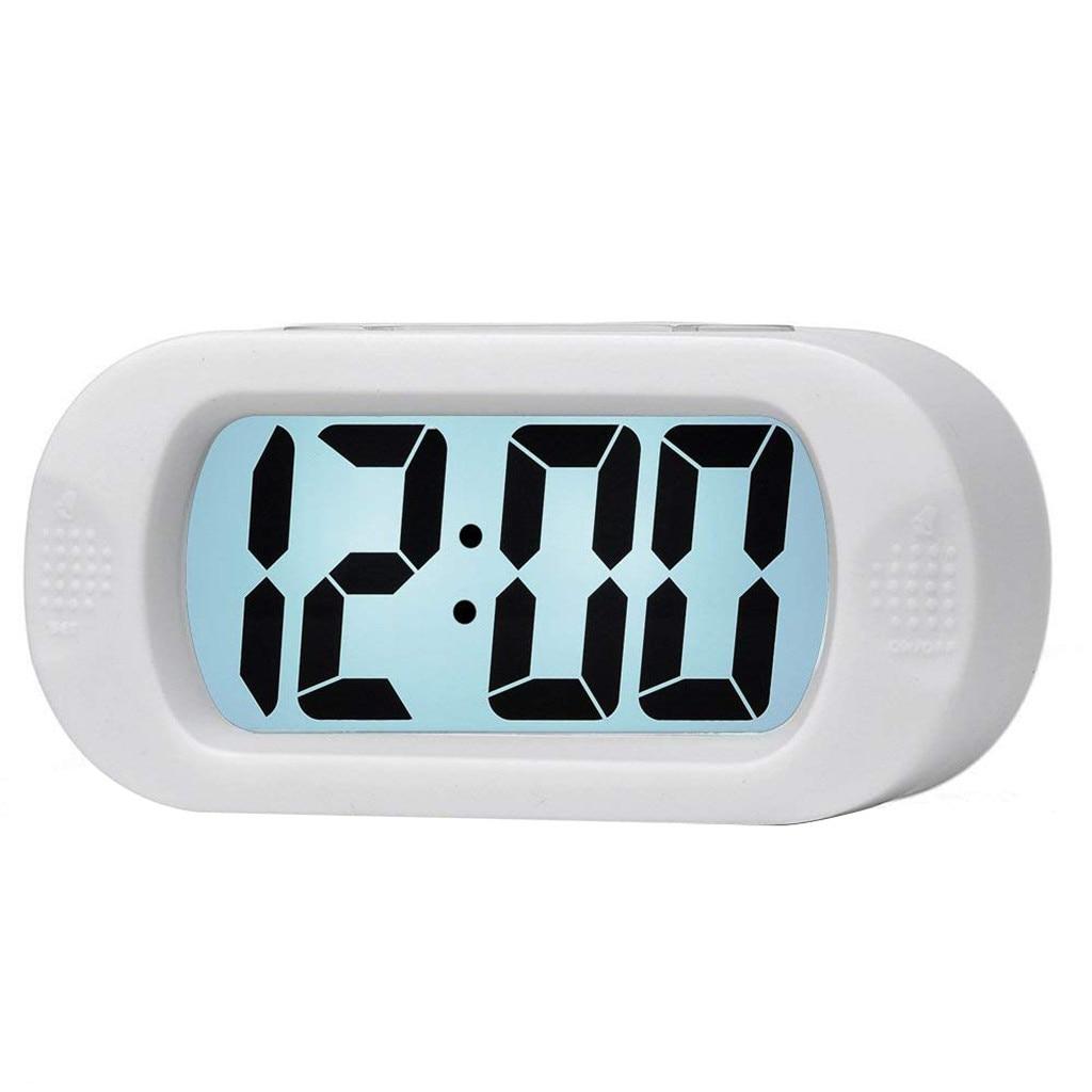 Digital Alarm Clock Wake Up Light Lcd Travel Alarm Clock