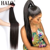 Brazilian Hair Weave Bundles Straight 100% Human Hair 28 30 32 40 Inch 3 4 Bundles Natural Color Long Raw Virgin Hair Extension