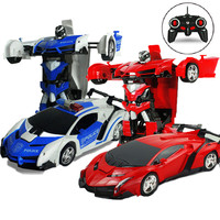 RC Cars Toy On The Remote Control Cops Vehicle Radio Control Transformation Cars Toys For Boys