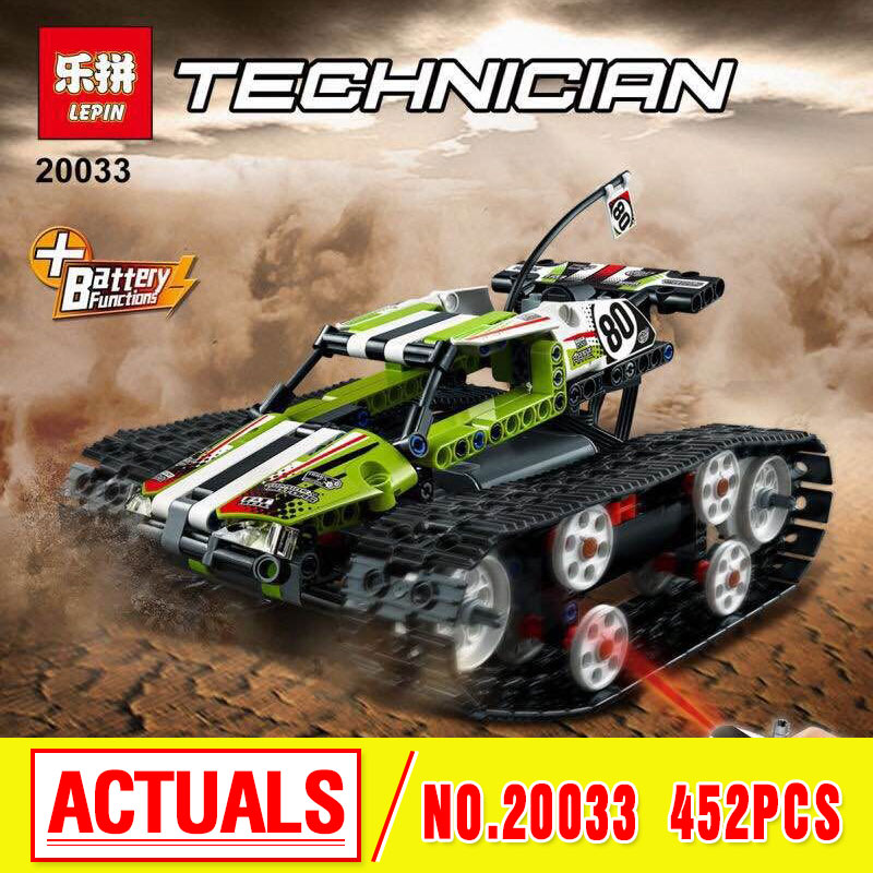 Lepin 20033 397Pcs Technic The RC Track Remote-control Racer Building Block children birthday gift compatible 42065 military