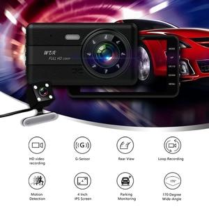 Image 2 - Cámara DVR 2 cámaras lente 4,0 pulgadas HD Dash lente Dual con cámara de visión trasera grabadora de vídeo Auto registrador DVRs dash Cam