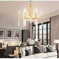 ALAM LED Pendant Lights Iron Postmodern Simple Black White Gold Art Deco Pendant Light Living Room Lamp 24 Lights LT