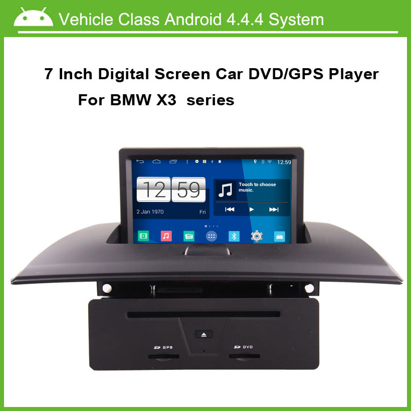 Android 4.4.4 System Car DVD/GPS player for BMW X3 E83 2004-2011,Speed 3G, enjoy the Built-in WiFi