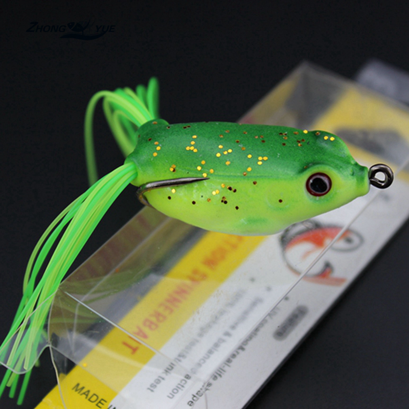5pcs high quality topwater frog hollow body soft fishing for Top water frogs bass fishing