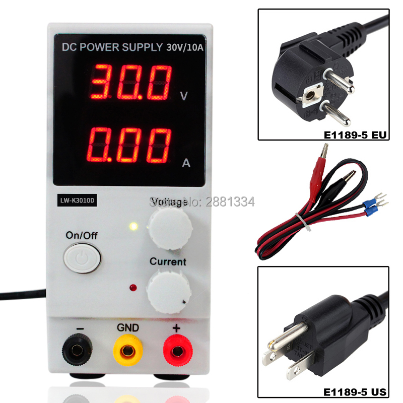 Mini Adjustable Digital DC power supply 30v 10a Switching 110v-220v For laptop phone repair original lw mini adjustable digital dc power supply 0 30v 0 10a 110v 220v switching power supply 0 01v 0 01a 34 pcs dc jack