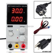 Mini Digital DC fuente de alimentación Ajustable 30 v 10a Conmutación 110 v-220 v Para El ordenador portátil de reparación de teléfonos