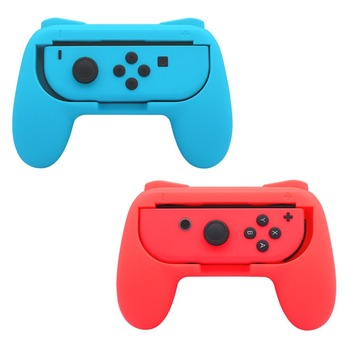 2pcs Update Bracket Hand Holder Wear-resistant Comfort Joy-con handheld Handle Grips Kit for Nintend Switch NS Joycon Controller