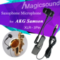 Saxophone Condenser Microphone for AKG Samson !! Professional Musical Orchestral Instrument Mic Wireless Transmitter XLR 3Pin