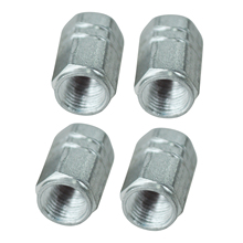 TOYL Silvery Car Auto Tyre Tire Valve Stem Covers Caps 4 PCS