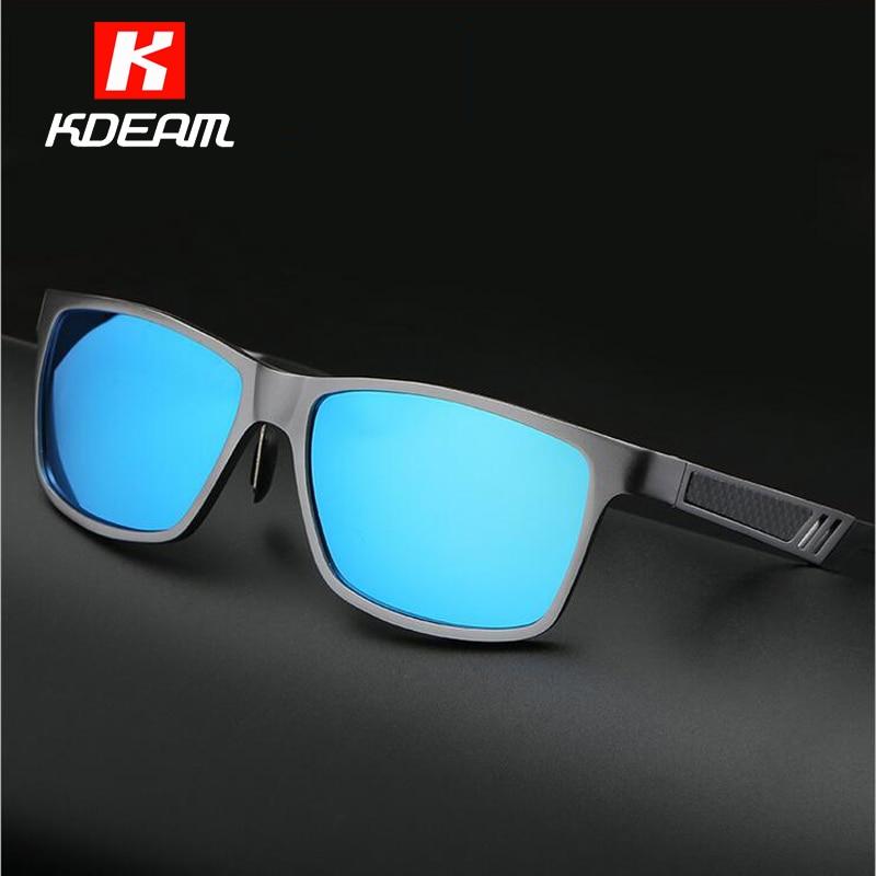 f17ba61a88ca9 Kdeam óculos polarizados óculos de sol dos homens de alumínio e magnésio  polarizadores lentes tons preto com reciclado caixa de ce em Óculos de sol  de ...