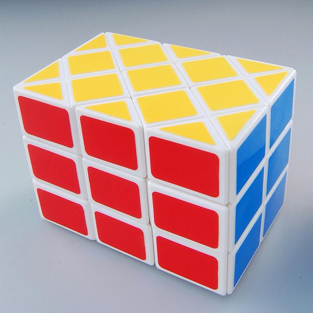 Diansheng blanco Vintage doble Fish cubo mágico Puzzle velocidad