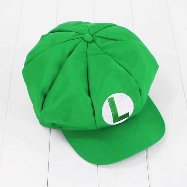 92a62e54aff placeholder Super Mario Bros Caps Cotton hat Mario Luigi Cosplay Buckle Hats  children Adult Hats Cap plush