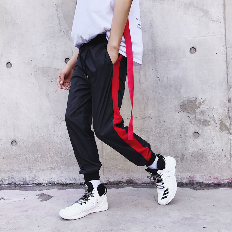 High Street Fashion Casual Pant for Men Ankle Length Trousers Mens Hip Hop Sweatpants Male Jogger Loose Harem Pant