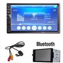 Автомобиль Видео Плеер 7018B 7 «ЖК-ДИСПЛЕЙ HD 2 Дин В Тире Сенсорный Экран Bluetooth Стерео FM MP3 MP5 Радио + Задний Камера вид