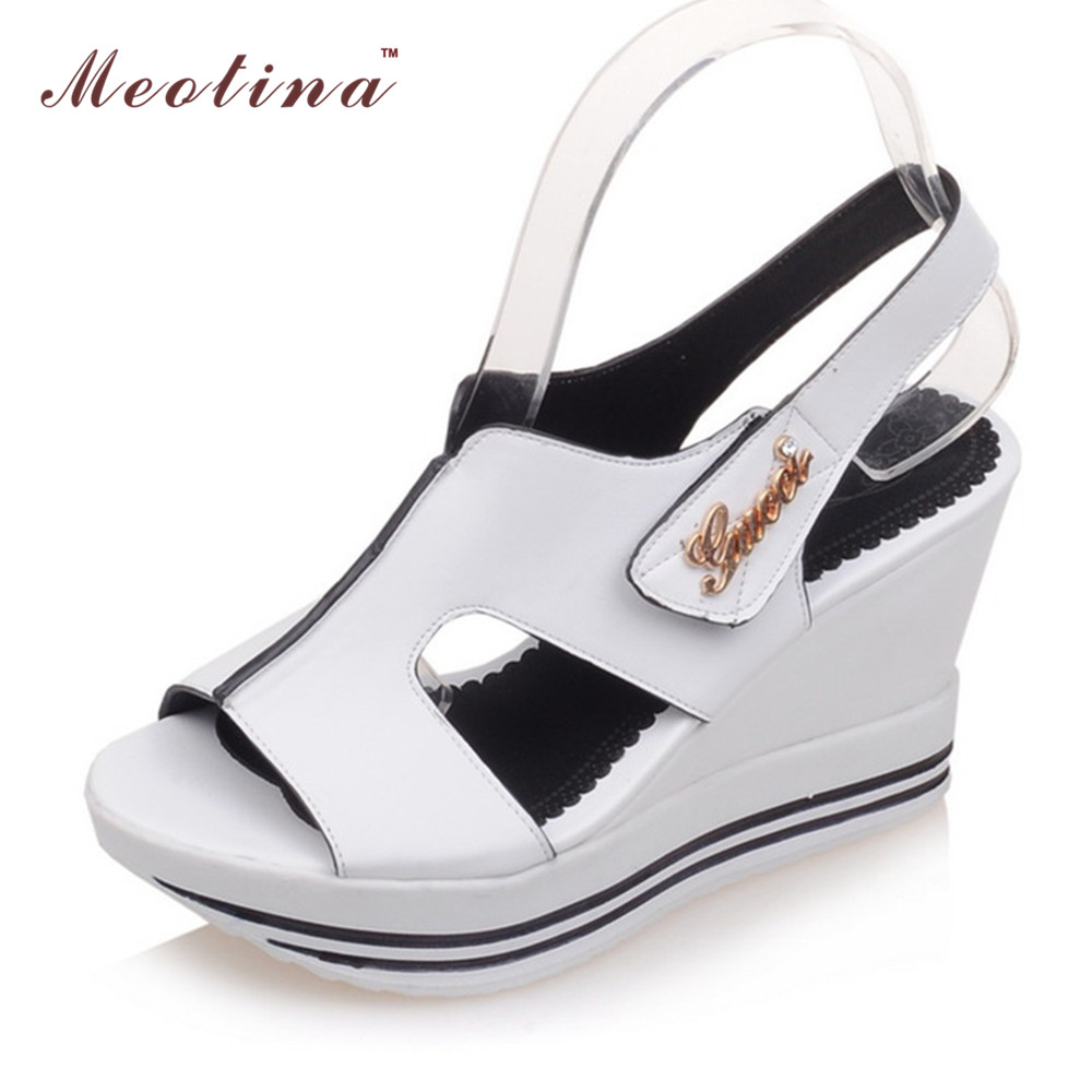 Sandals shoes comfortable - Meotina Women Sandals Summer Platform Sandals Gladiator Shoes Rome Wedge Heels Sandals Causal Comfort Ladies Shoes White Yellow