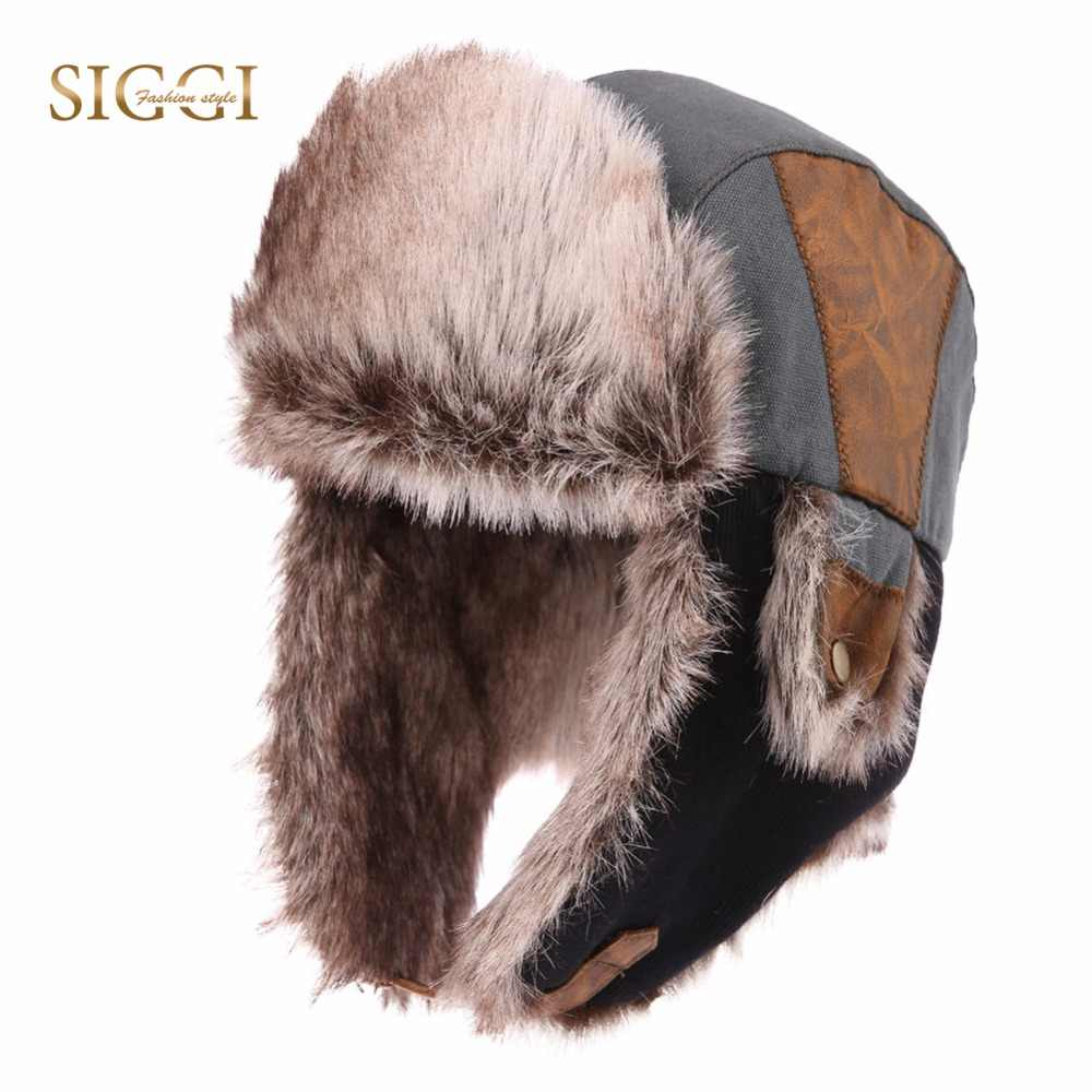 38a55fd058d FANCET Winter Warm Unisex Bomber Hats For Men Faux Fur Soft Lining Russia  Hats Fashion Adjustable
