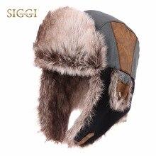 Bomber Hats Ear-Flap Faux-Fur Unshanka Winter Fashion Warm FANCET Unisex for Men Soft