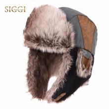 FANCET Winter Warm Unisex Bomber Hats For Men Faux Fur Soft Lining Russia Hats Fashion Adjustable