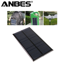 ANBES Mini 6V 1W 125*60.5mm Solar Power Panel Solar System DIY For Battery Cell Phone Chargers Portable Solar Panel