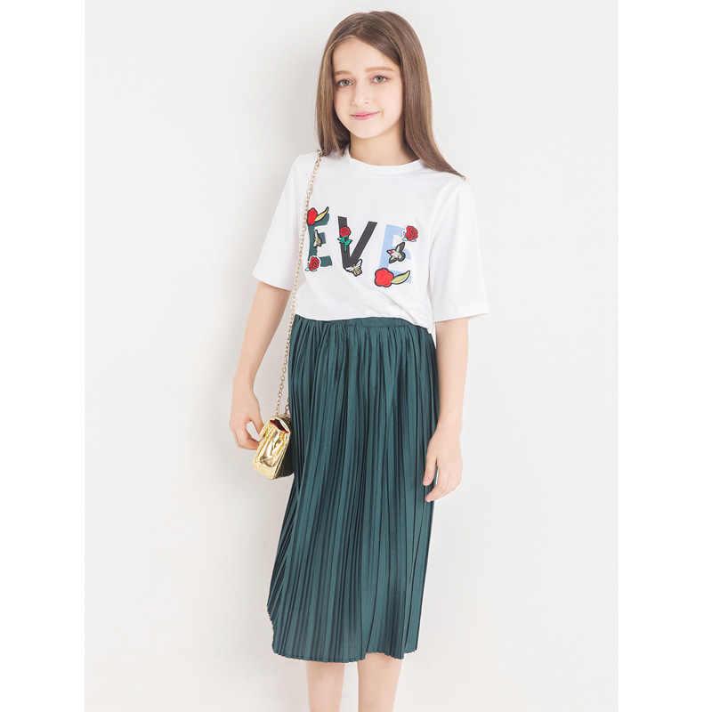 032b01855 Conjuntos de ropa para niñas adolescentes 2018 moda verano niños Set ...
