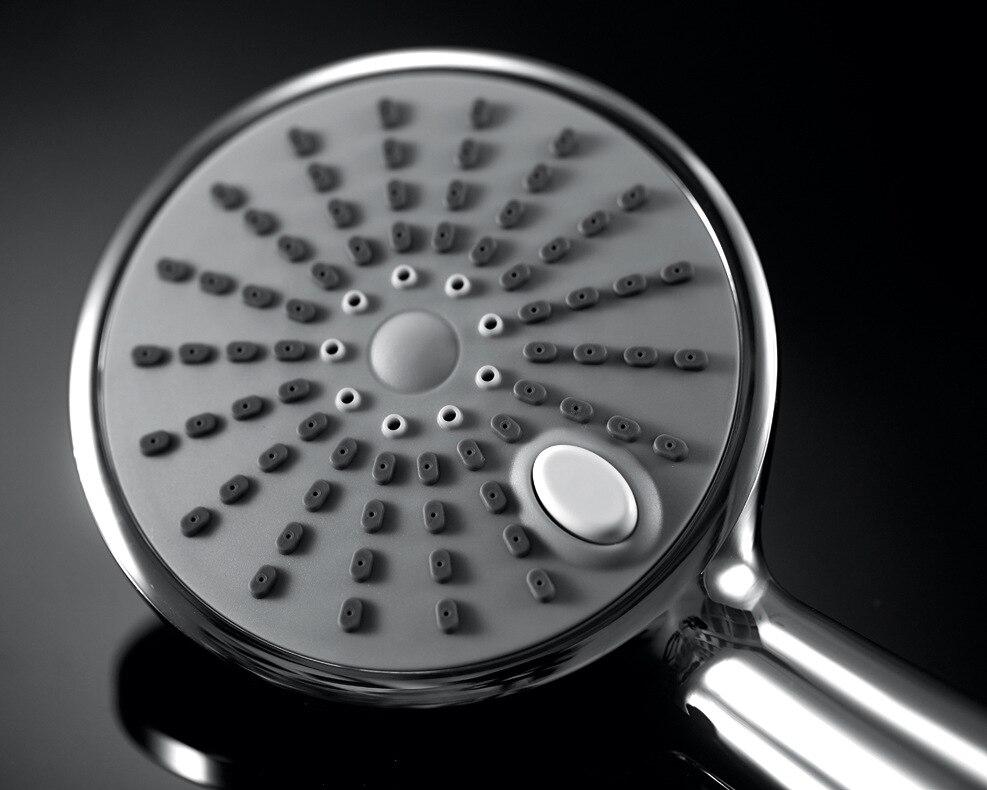 Abs Handheld Duschkopf Bad Wasserspar Dusche Mit Schalter Zu öffnen