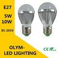 LED bulb E27 5W 10W SMD 5730 LED Light Bulb 110 v 220 v LED lighting the High Quality Hot / White