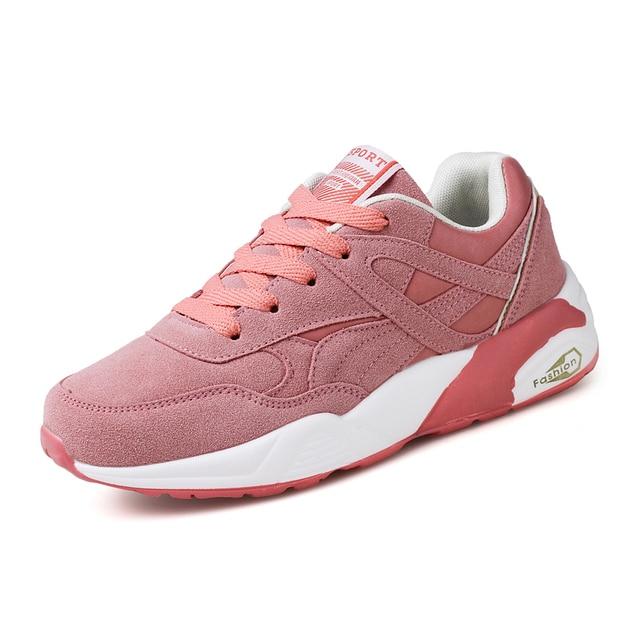 Woman Casual Breathable Lace-Up Suede Mesh flats Women Shoes Zapatillas Deportivas Mujer Chaussures de Sport Calzado Deportivo