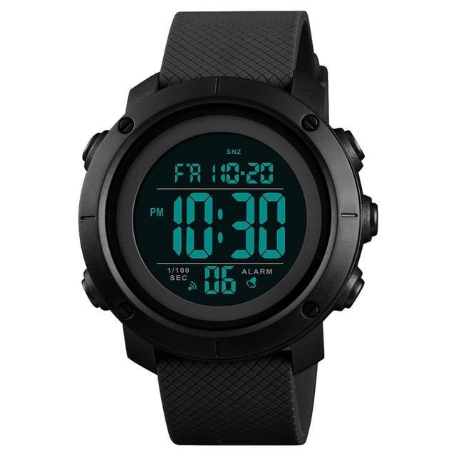 시간 비밀 시계 남자 방수 야외 스포츠 학생 디지털 손목 시계 청소년 빛나는 다기능 전술 시계