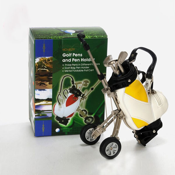 US $12.0 |mini golf trolley Golf Bag with Cart Desk Top Pen and Pencil on golf cart trophy, forklift pen holder, golf cart tape dispenser, golf cart organizer, golf bag pen holder, golf cart radio, golf cart mugs, golf cart batteries, golf cart keychain, golf cart bags, golf cart tray,