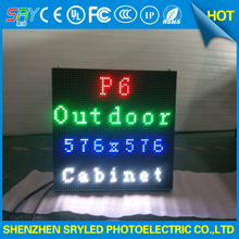 P6 наружного использования led-арендный полноцветная литья алюминиевый корпус светодиодный дисплей