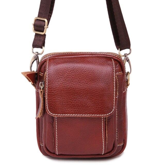 Натуральная кожа Мужская сумка маленькая Сумки высокого качества из  воловьей кожи 426ee5afb28