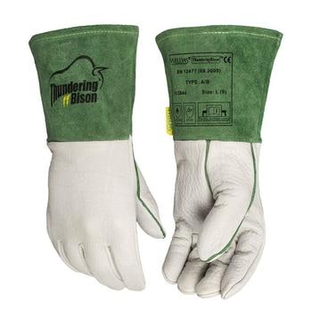 Grain Cow Leather Welder Arc Safety Hand Bison Leather TIG MIG Welding Work Gloves leather work glove mig tig safety glove premium grain cow leather welding glove