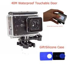 Nouveau! yi 4 k action caméra 2 40 m Palpable Étanche Boîtier de Cas avec Toucher Backdoor etui en silicone Pour Xiaomi Yi 2 4 K