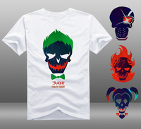 [XHTWCY] Men Suicide Squad T Shirt Joker Haley Quinn skull T shirt Summer boy comfortable breathable white T shirt