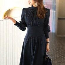 فستان فورمال أنيق بأكمام طويلة لإطلالة مميزة