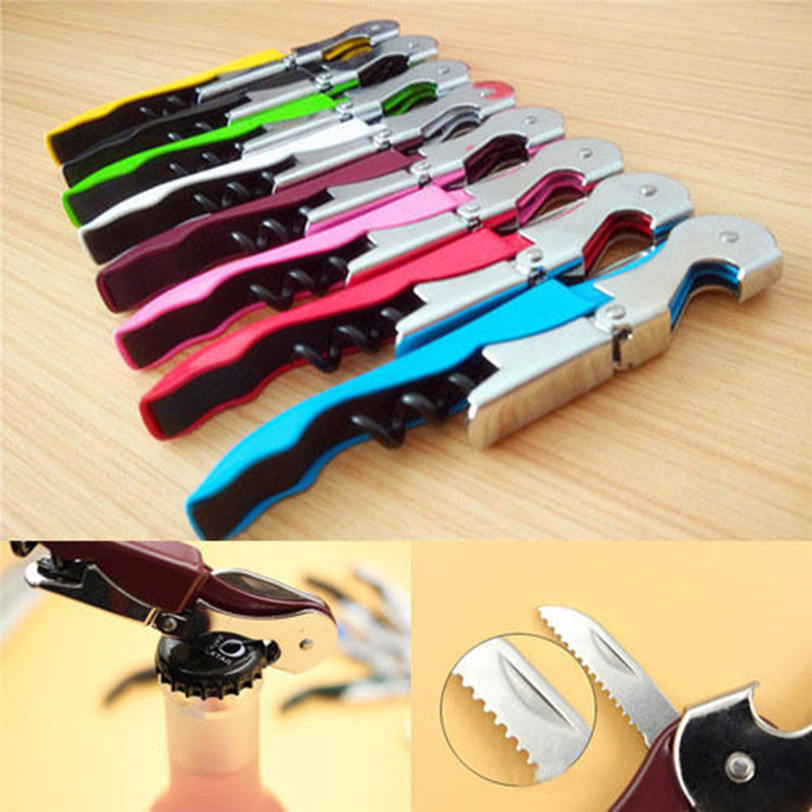 Stainless Steel Cork Screw Corkscrew MultiFunction Wine Cap Opener OK Beer Cap Bottle Opener Kitchen Bar Tools Accessories(China)