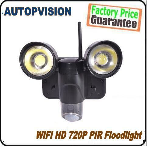 720P Waterproof Wireless WiFi Floodlight Camera Motion Detection