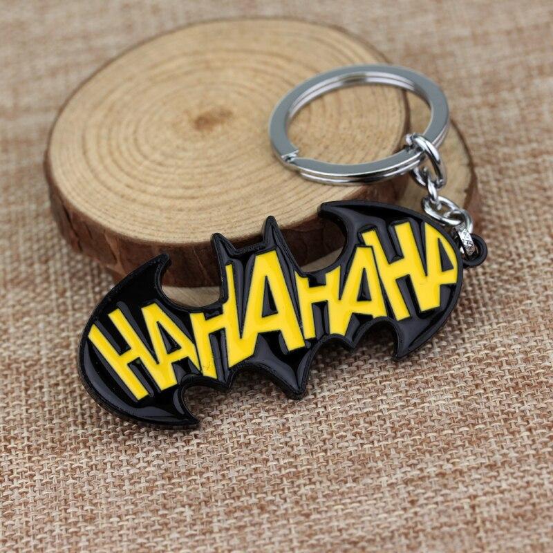 DC Comics BATMAN HA HA HA JOKER Metal Keychain Shazam Flash Key Ring Spider Key Chains Metal Movie Jewelry Gifts