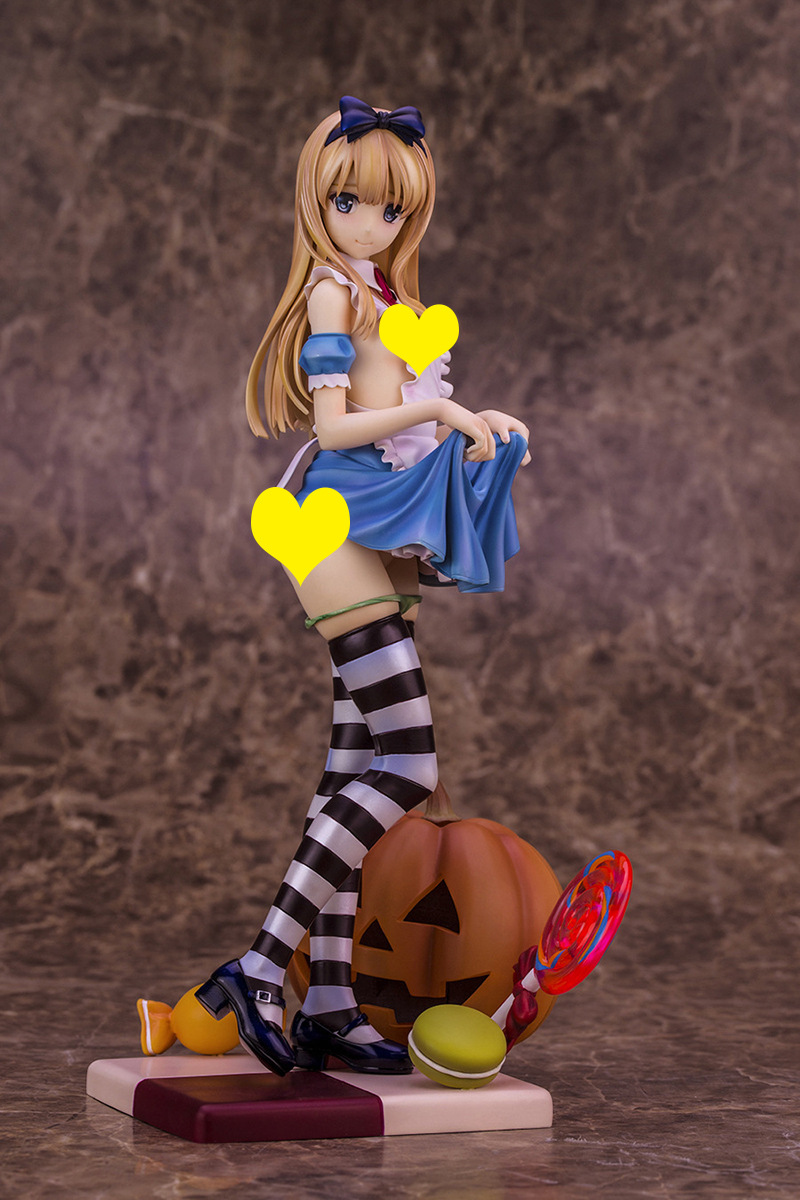 25cm ALPHAMAX Skytubes Alice girl illustration BY Misaki Kurchito PVC Pre-Painted Action Figure Model Adults Collection Toy