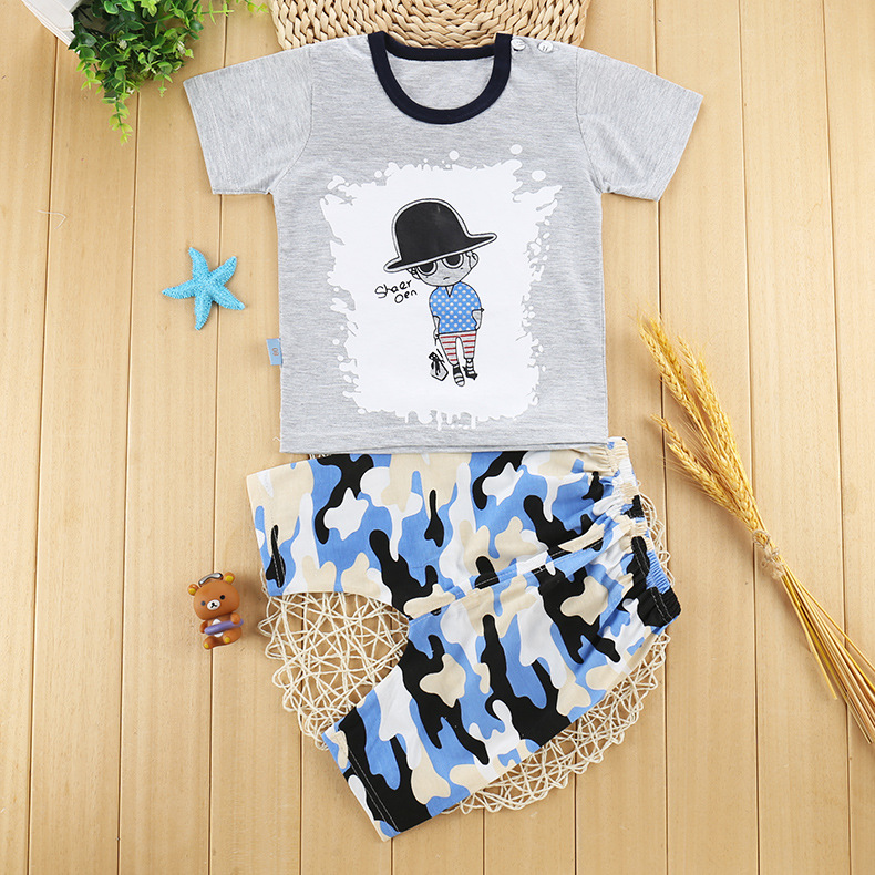 2016 summer baby girl clothes and baby boy clothes set cotton baby clothing set fashion Cartoon letter t-shirt+pants newborn newborn baby boy girl 5 pcs clothing set cotton cartoon monk tops pants bib hats infant clothes 0 3 months hight quality