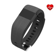 Coronary heart Price Monitor Good Band Sport Waterproof Wristband Well being Passometer Health Tracker for Samsung Galaxy S7 / S7 edge BLACK