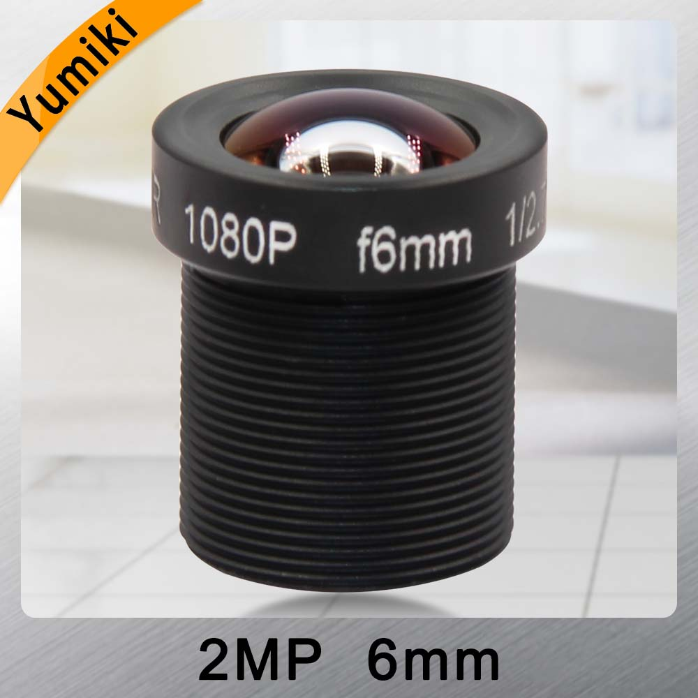 Yumiki CCTV Lens F2.0 M12*0.5 6mm 60degree CCTV Camera Board Lens For 1/3