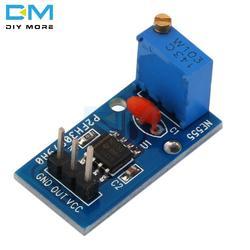 2 шт. NE555 Регулируемый Resistnce частоты пульса генератор сигналов модуль для Arduino салона автомобиля 5 V-12 в источник питания с одним 1 канальный