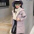 Novas meninas moda casaco com capuz jaqueta criança Natal dos cervos do bebê casaco de inverno outono quente de moda roupas de menina