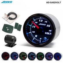 """Car Auto 12V 52mm/2"""" 7 Colors Universal Voltmeter Volt Gauge LED With Sensor and Holder AD GA52VOLT"""