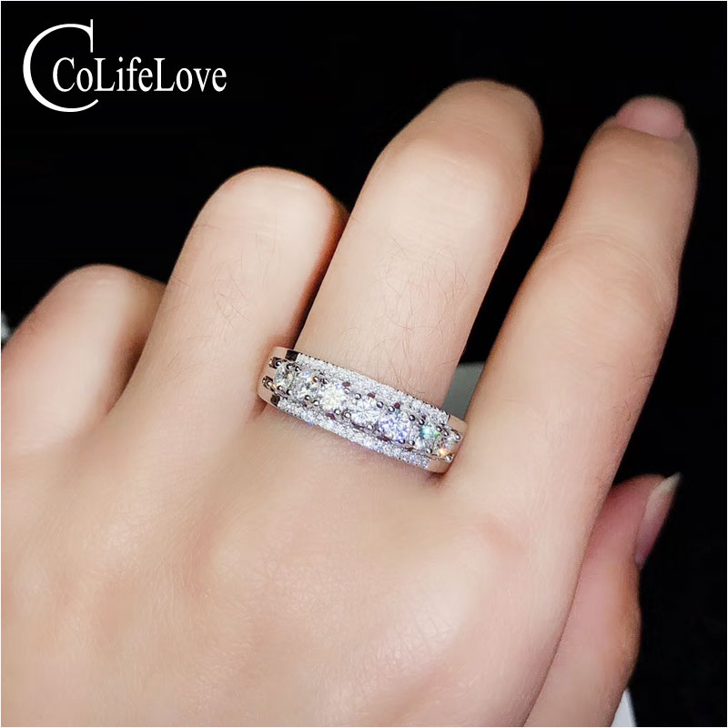 CoLife Jewelry Fashion Moissanite Ring for Daily Wear 5 Pieces 3mm Moissanite Ring 925 Silver Moissanite JewelryCoLife Jewelry Fashion Moissanite Ring for Daily Wear 5 Pieces 3mm Moissanite Ring 925 Silver Moissanite Jewelry