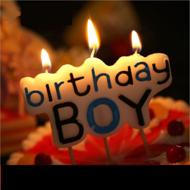 1pc Good Quality Cake Decorations Happy Birthday Candle Colorful Boy